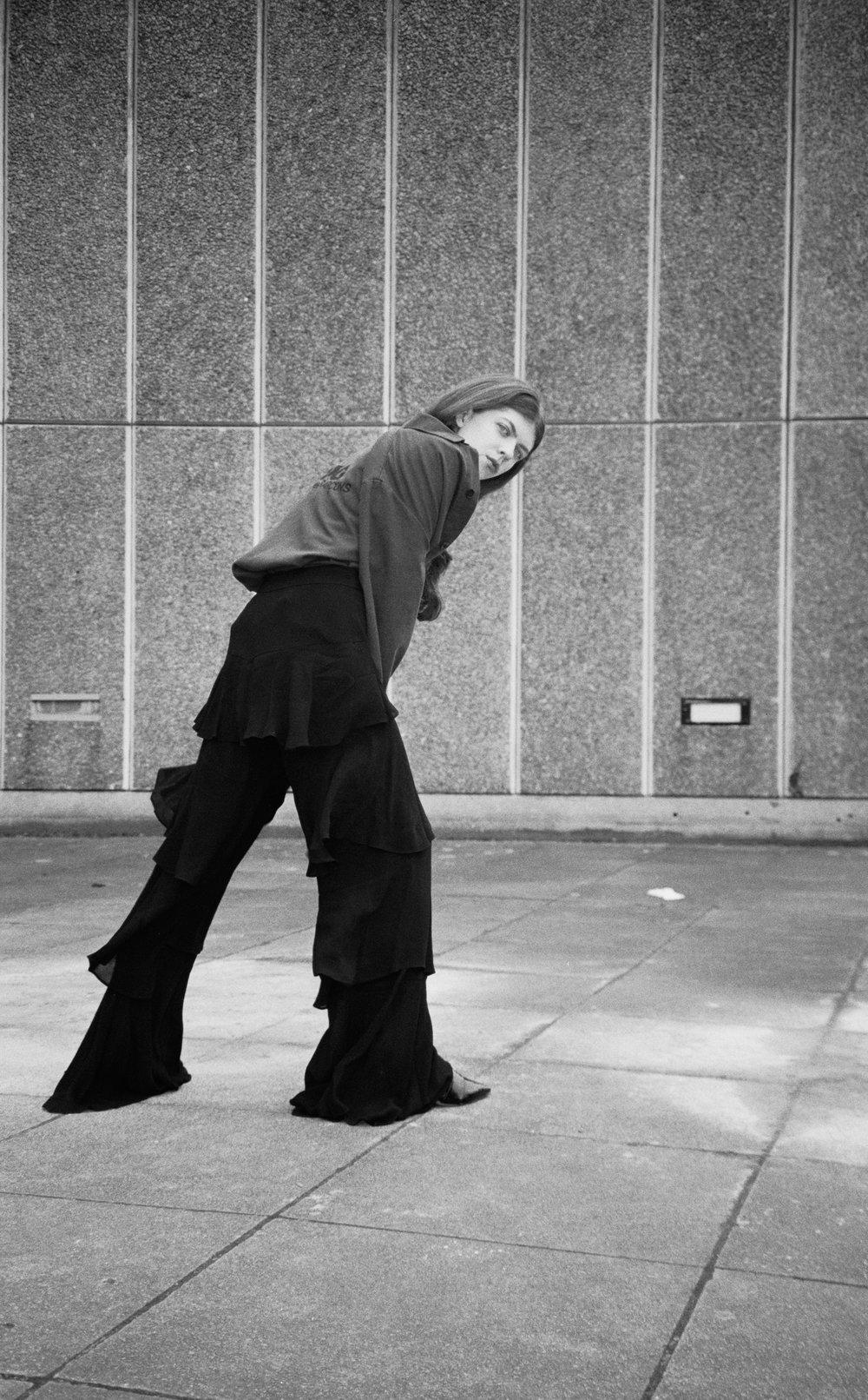 shirt COMME DES GARCONS, trousers ZARA,