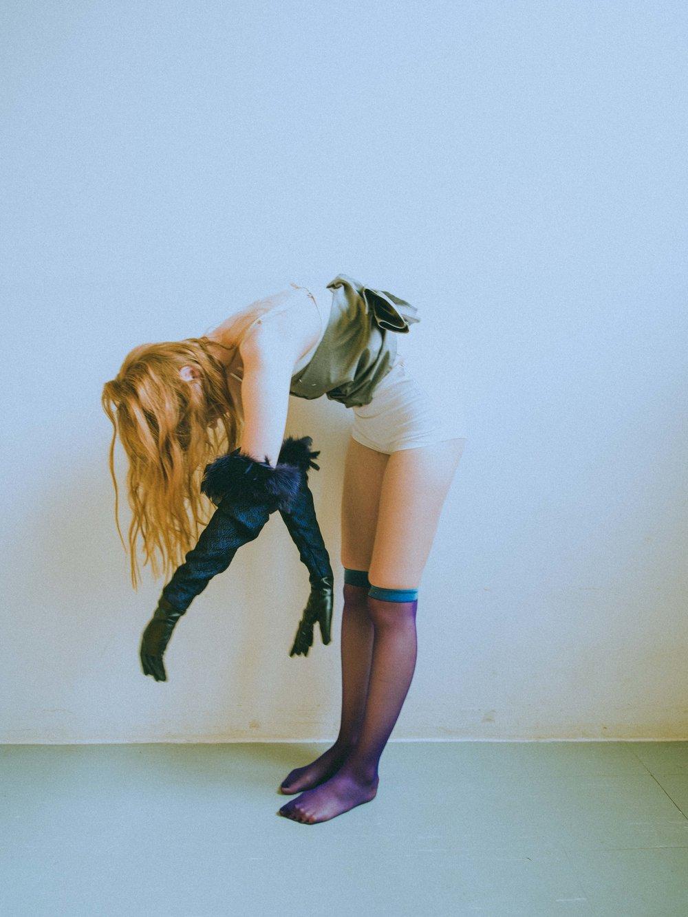arm NOVO STUDIO, bustier MAISON MARTIN MARGIELA, socks VINTAGE