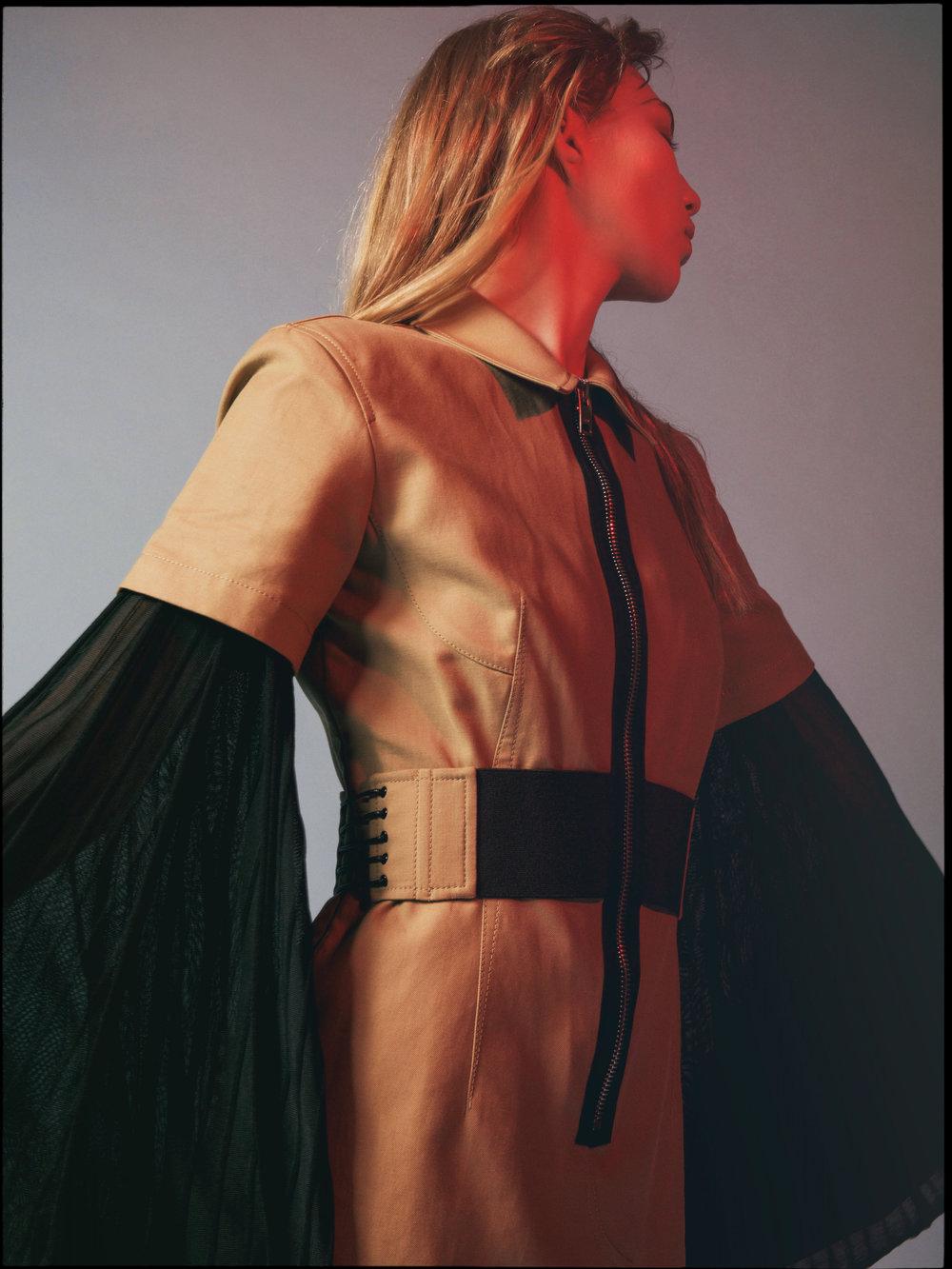 khaki top ALEXANDER WANG available at  Saks Fifth Avenue , black top CHLOE available at  Holt Renfrew ,