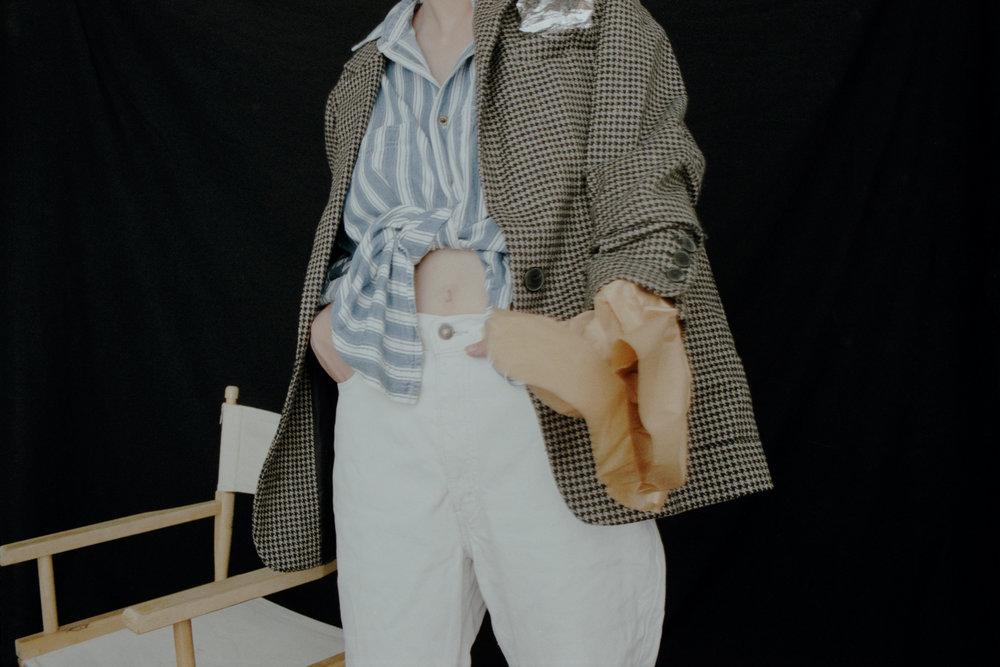 shirt VINTAGE, blazer ZARA, jeans LEVI'S