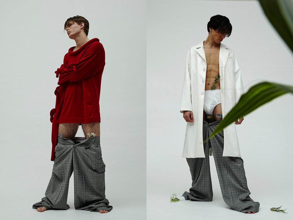 jumper + jacket + trousers ZHENHAO GUO, boxers UNIQLO