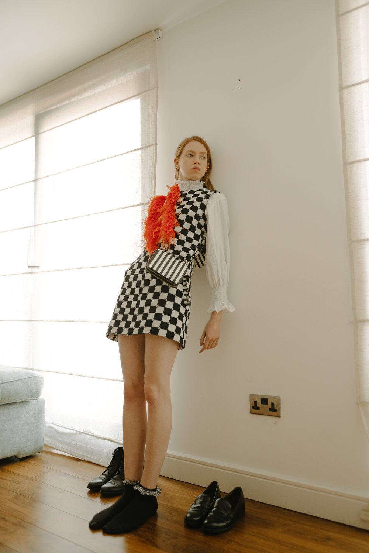 DRESS - CORREGES BAG - MARQUES ALMEDIA SHIRT - H&M SOCKS AND SHOES - TOPSHOP