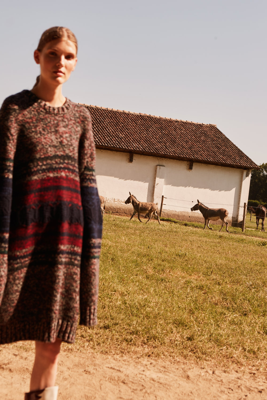 maxi knitwear Ports 1961 and boots Cori Amenta