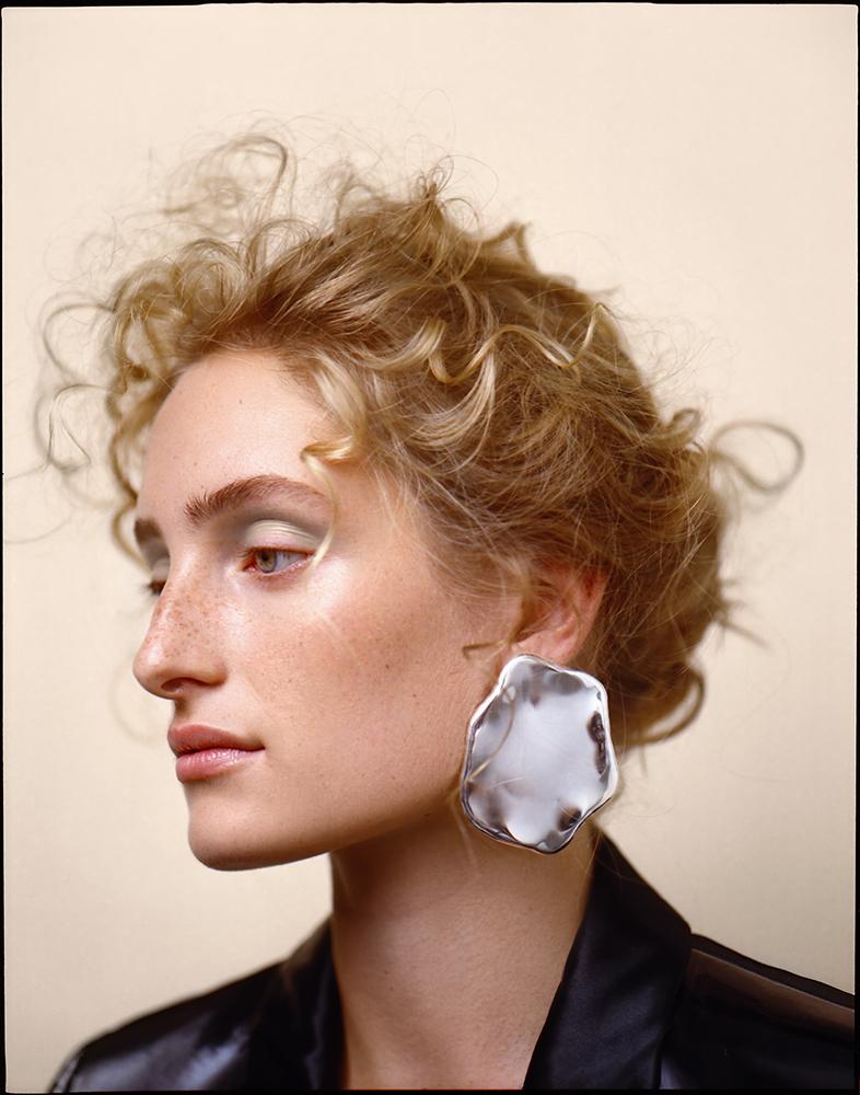 Blazer Lanvin, earrings All Blues