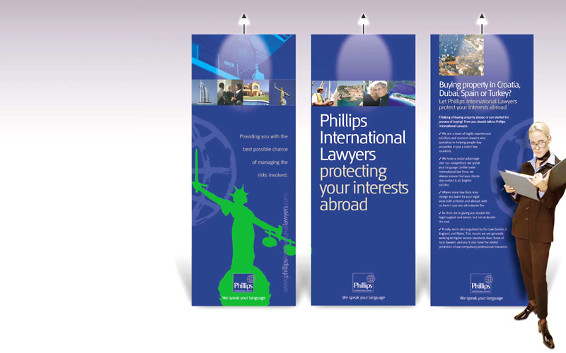 A series of three easy portable, exhibition panels for use in seminars and at exhibitions.