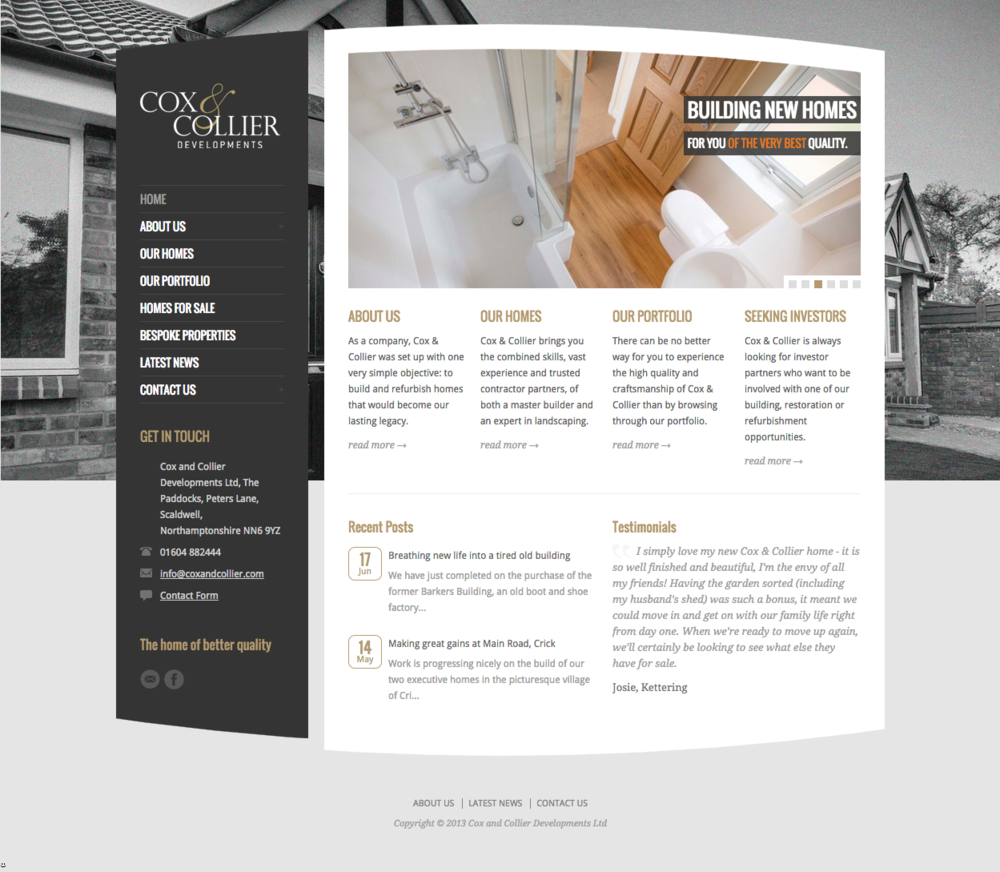 Cox & Collier Developments website