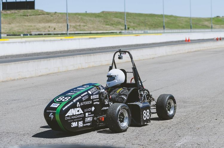 RMIT Electric Racing R14e car