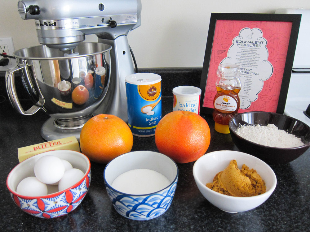 Grapefruit Honey Cake with Grapefruit Honey Curd — Butter & Type