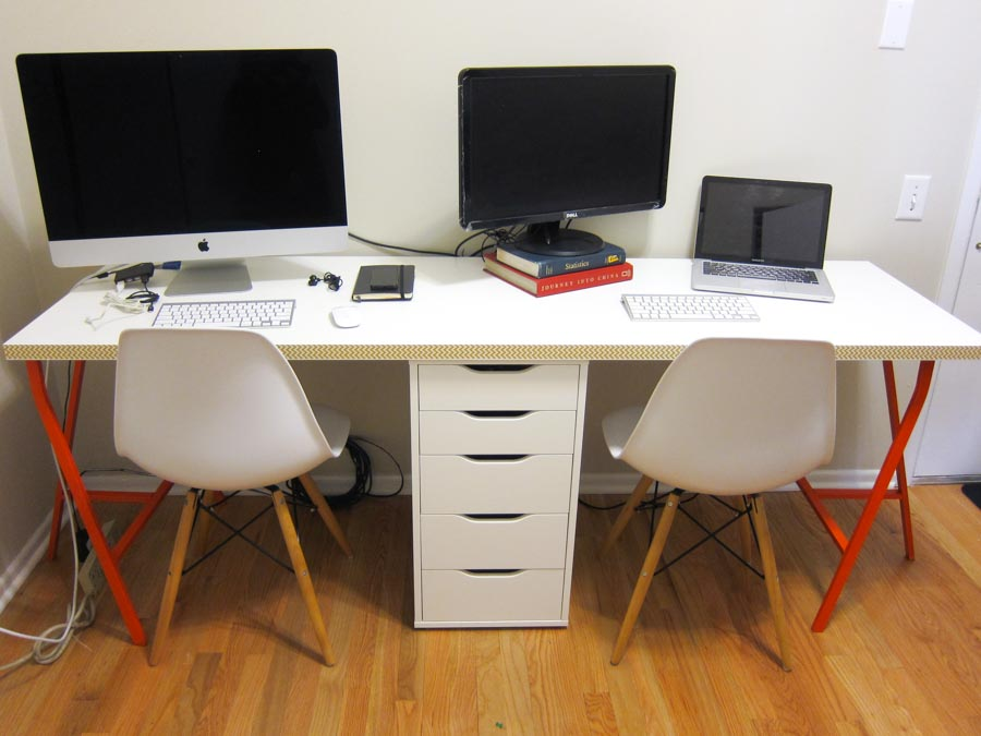 Office Makeover, Part 2: DIY Ikea Linnmon Desk for Two — Lito Supply