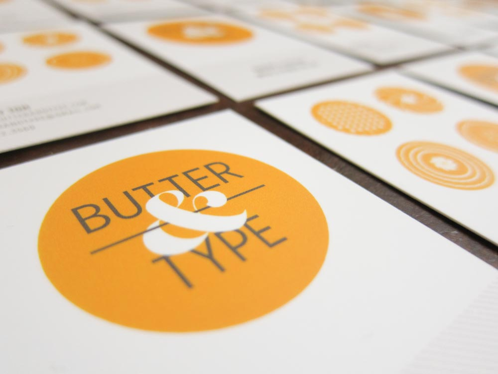 Six general tips for designing/making your own business cards by Butter & Type.