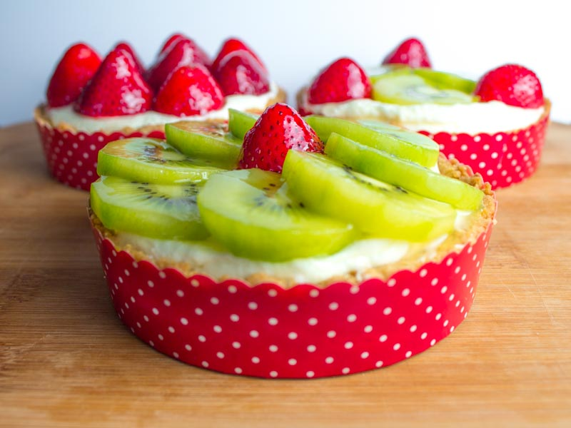 STRAWBERRY KIWI AND LIME CHIFFON TARTLETTES BY BUTTER & TYPE