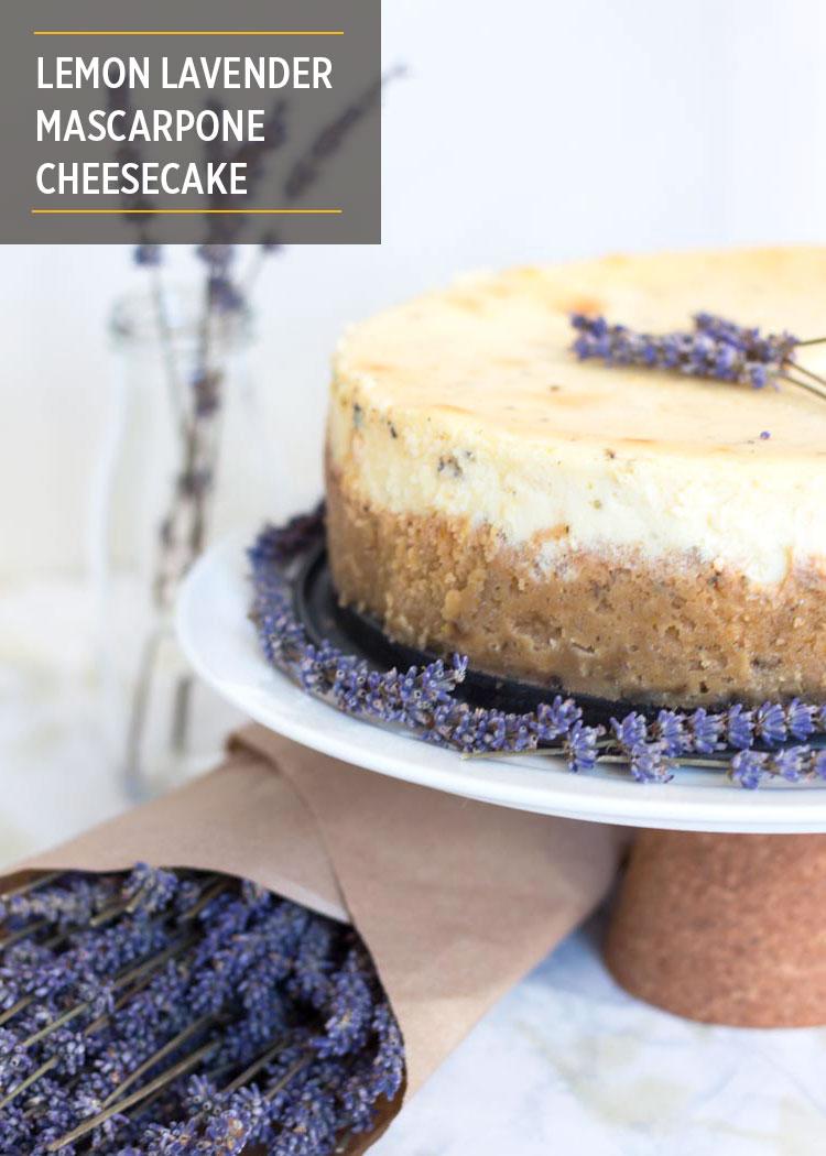 Lemon Lavender Mascarpone Cheesecake by Butter & Type