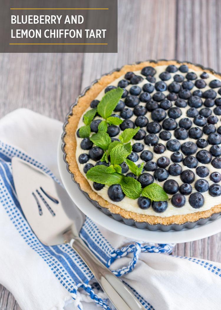 Blueberry and Lemon Chiffon Tart by Butter & Type