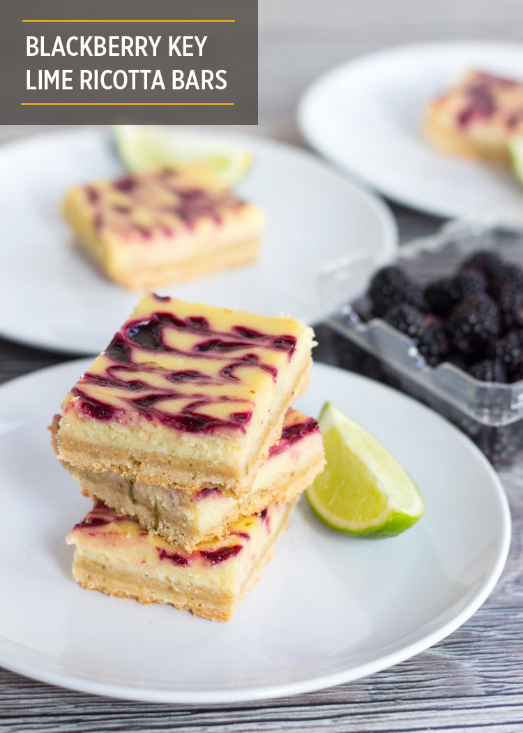 Blackberry Key Lime Ricotta Bars by Butter & Type