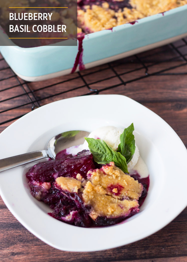 Blueberry Basil Cobbler by Butter & Type