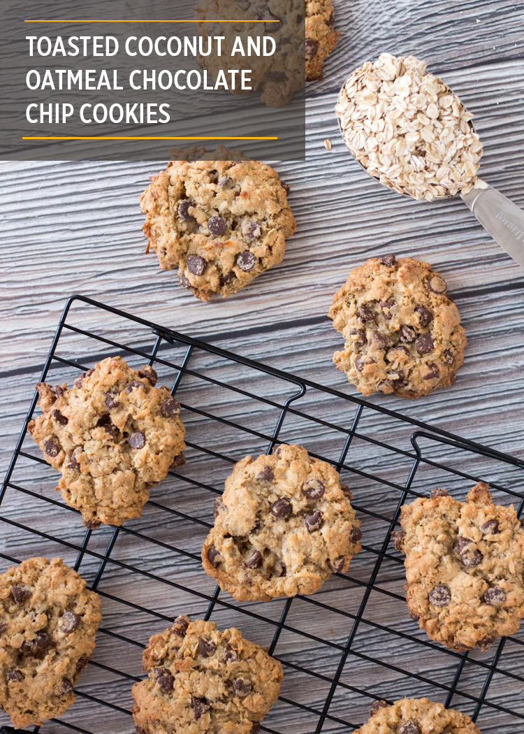Toasted Coconut and Oatmeal Chocolate Chip Cookies by Butter & Type