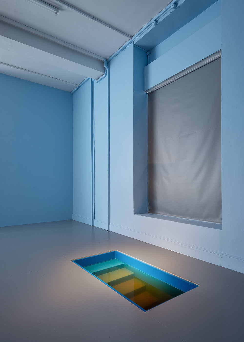 Installation view,  Depth  as an invititation to the basement