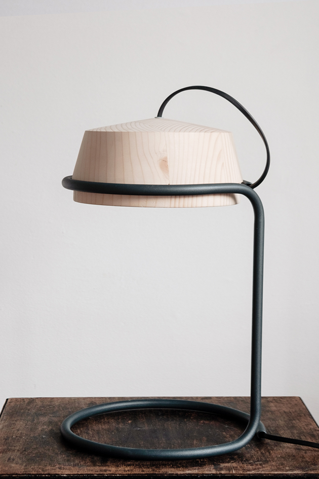 Whirligig Wood Lamp, Table Lamp, Reading Lamp, Contemporary Lamp, Bedroom  Lamp,