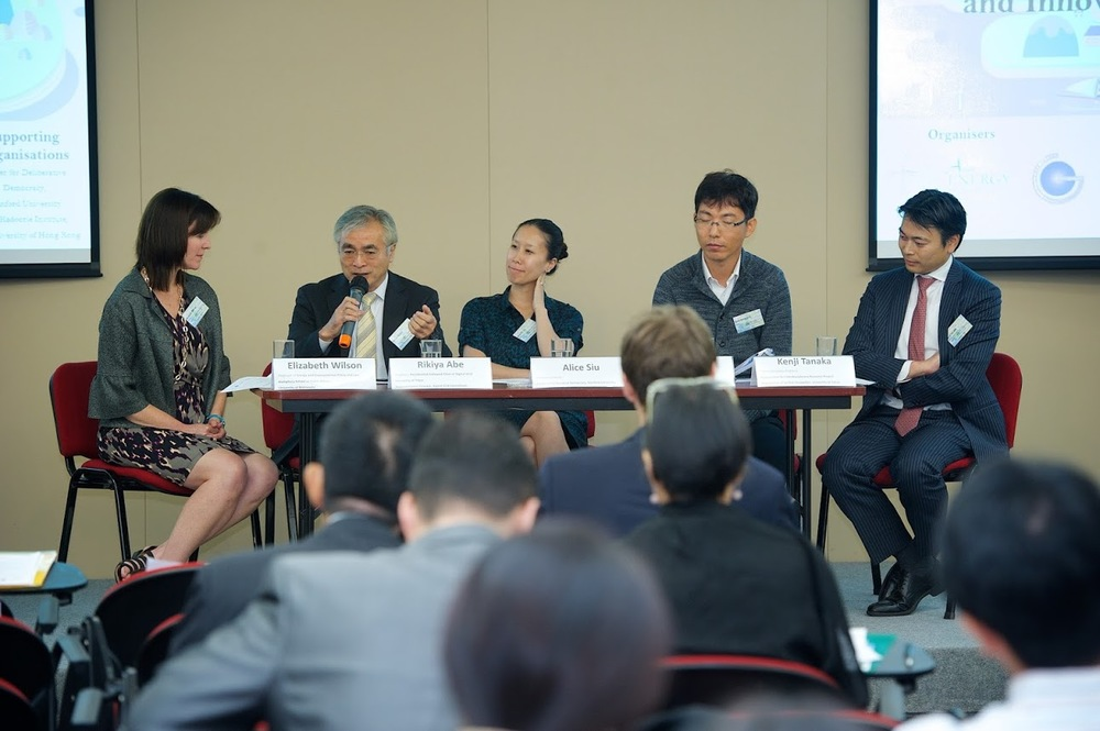 Panel discussion with keynote presenters and speakers (left to right: Prof. Elizabeth Wilson, Prof. Rikiya Abe, Dr. Alice Siu, Mr. Chan-Kook Park, Prof. Kenji Tanaka).