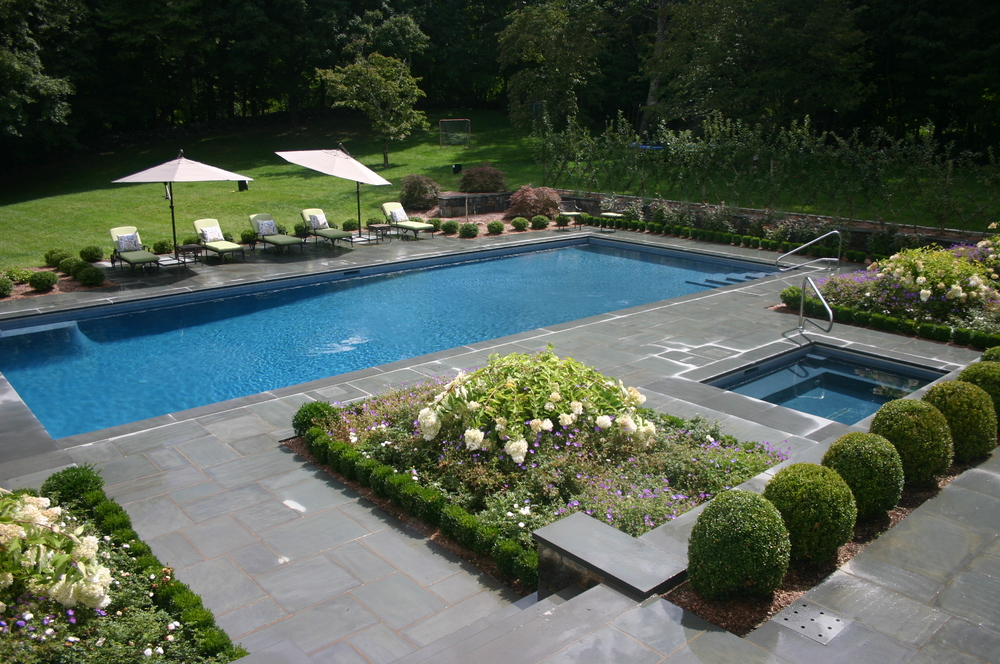 Ref ID 1 - Rectangle Swimming Pool with separate spa, salt system, and auto cover in Greenwich, CT