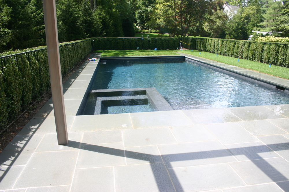 Pool builder in norwalk ct haggerty pools for Swimming pool spa designs