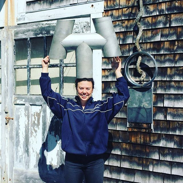 @elsiegawler and I made Charlie Nobles over here at John Gawler and Daughters Sheet Metal Co.!! You could say #wehaveoursheettogether @johngawler #charlienoble #turncoatedsteel #handcrafted #chimneycaps @cobeckroofing