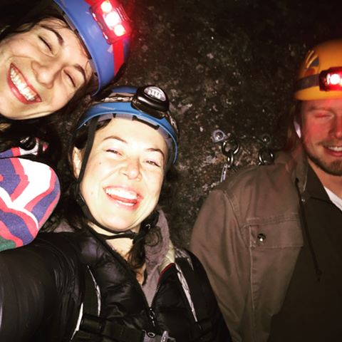 Midnight rappelling and rock climbing on a 200' rock face. HELL YES!!!!! @elsiegawler @michellebezik @northernvertical #northernvertical holypoop that was fun. #letsdothatagain