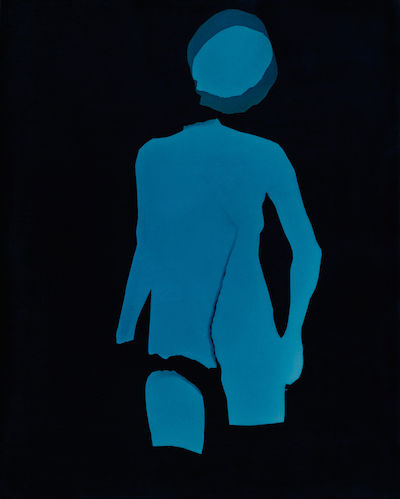 The Blue Woman I, Photogram toned in iron & selenium, 2015                                                   ©Claire Gilliam