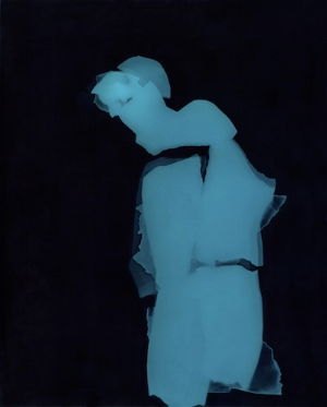 The Blue Woman IV Photogram toned in iron, 2015                                               ©Claire Gilliam