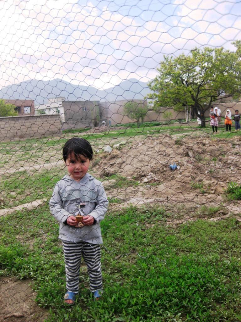 Shamim in the garden.