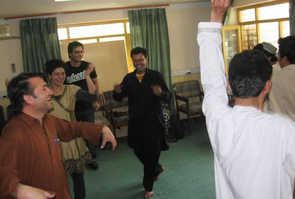 Soul Train line ... Afghan style!