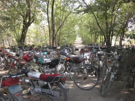 Two wheeler parking at Kabl University.