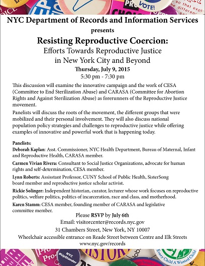 JULY 9, 2015 5:30pm - 7:30pm. 31 Chambers Street, NYC RSVP to: visitorcenter@records.nyc.gov PLEASE HELP ME SPREAD THE WORD