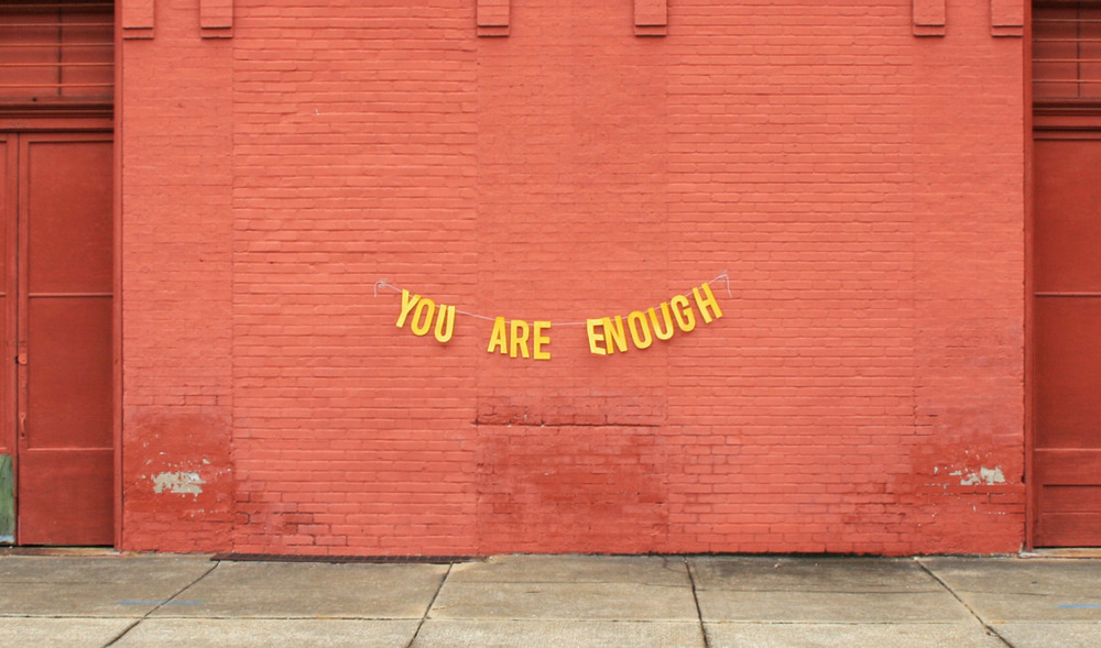 misswallflower :       abandonedloveseries :       you are enough     quote by  milly cope  // banner & photography by  peytonfulford
