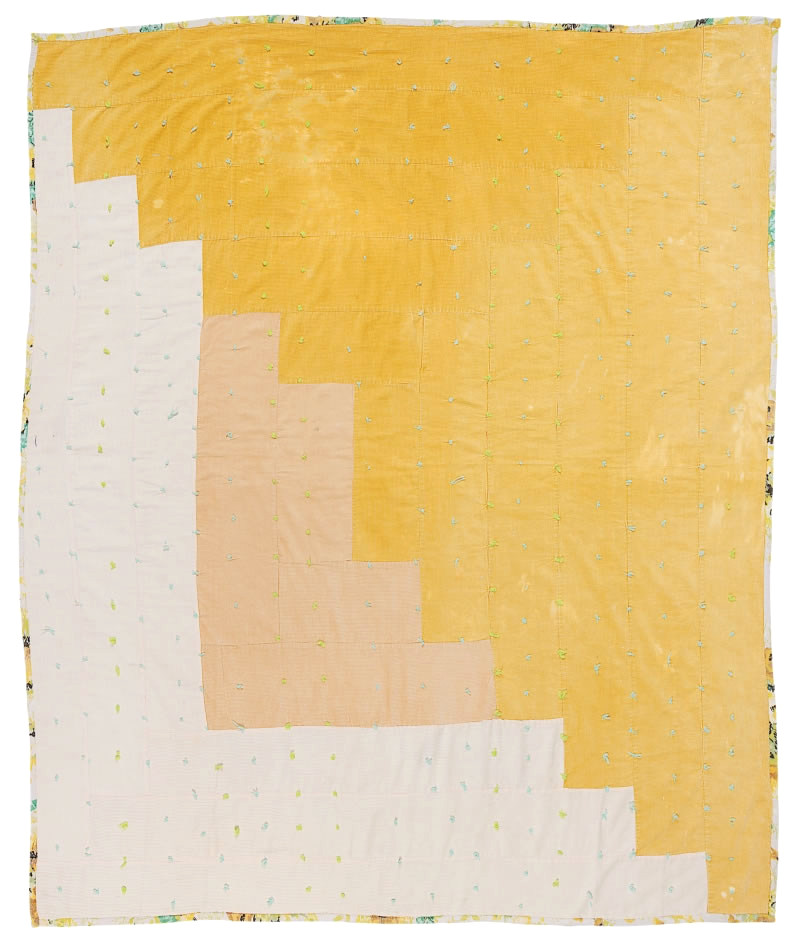 -outlying- :     Linda Pettway,  Logcabin, single-block variation, tied with yarn , c. 1975 ( via )