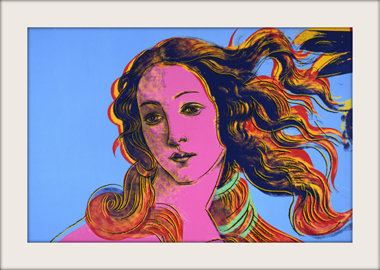 importantmodernart :     Details of Renaissance Paintings (Sandro Botticelli, Birth of Venus, 1482), 1984  Andy Warhol