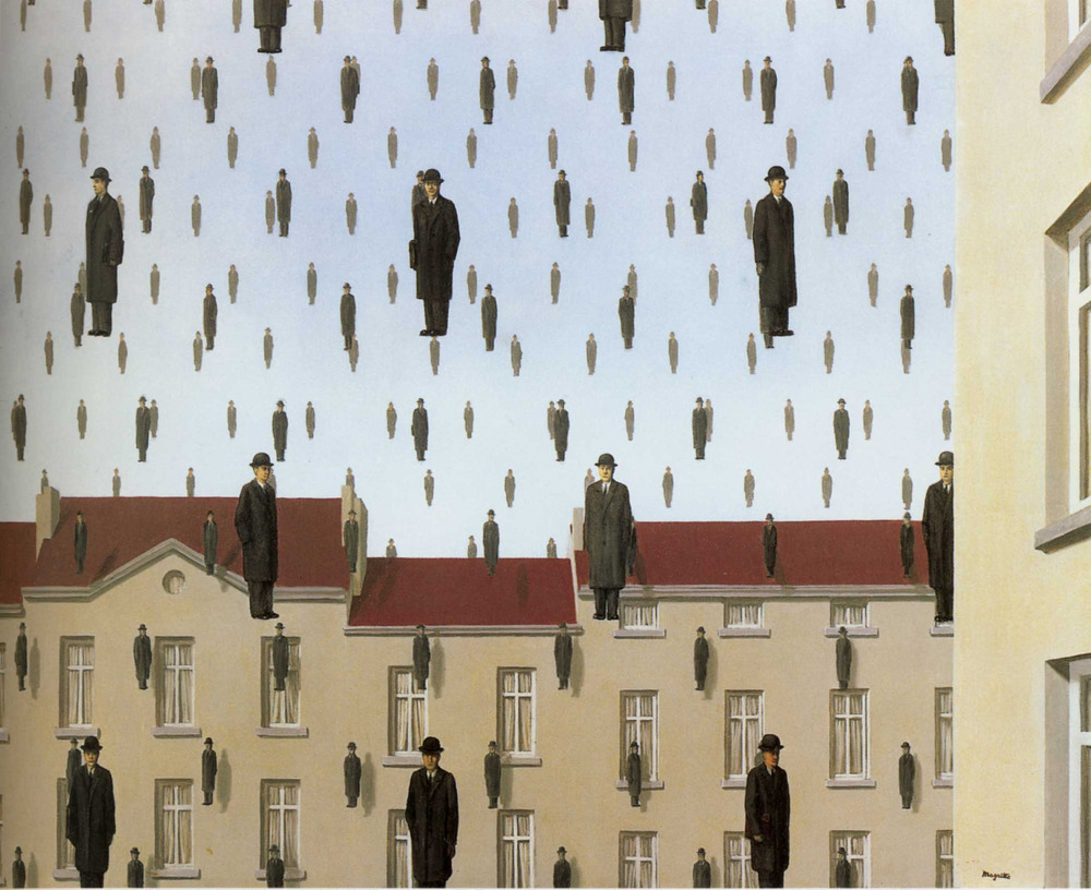 galaxydutch: Golconde, Rene Magritte, 1953 Oil on canvas