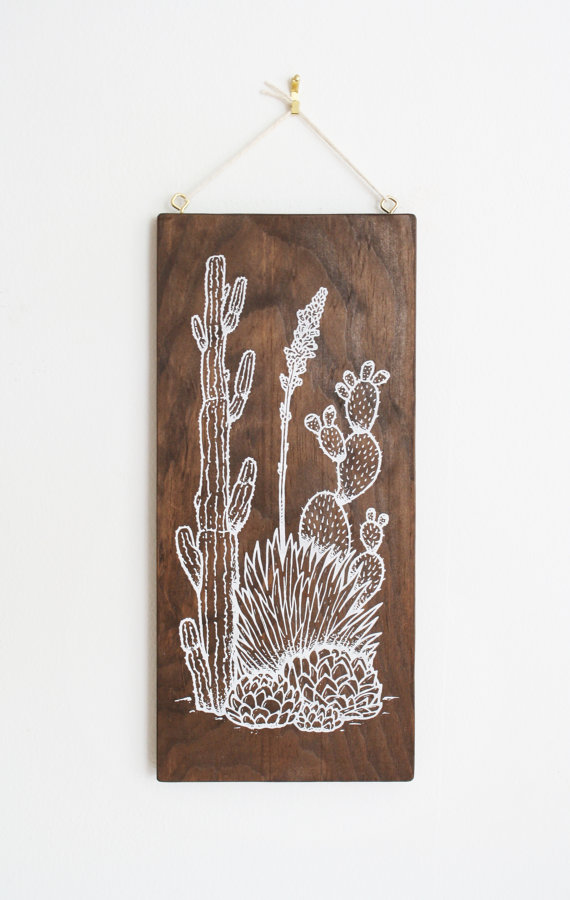 littlealienproducts :    Desert Garden: Southwest Lanscape // $65