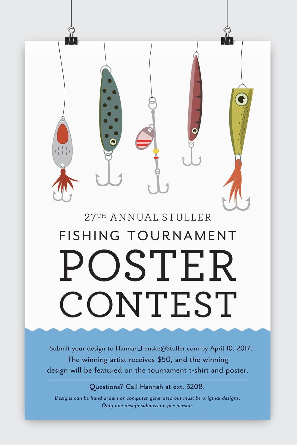 Fishing Tournament Poster Contest Poster