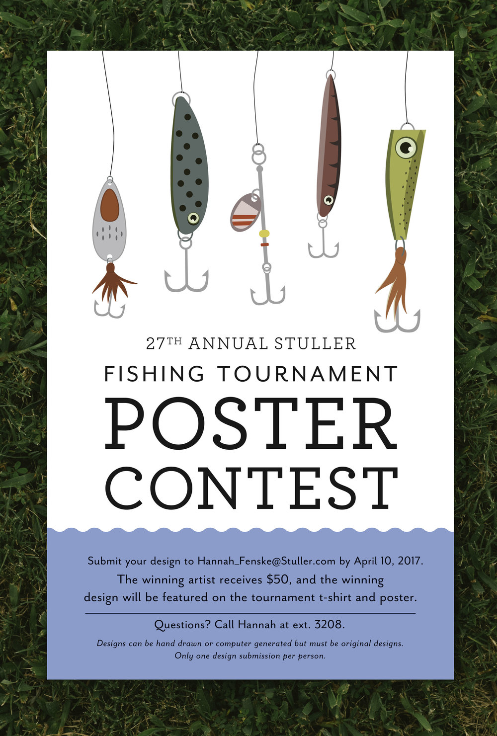Fishing Tournament Poster Contest Design