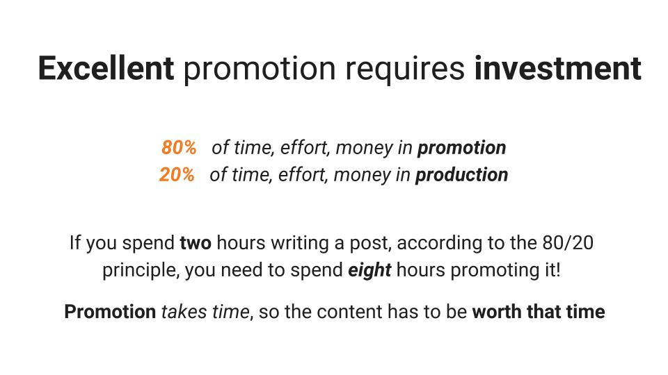 80 20 method of promotion