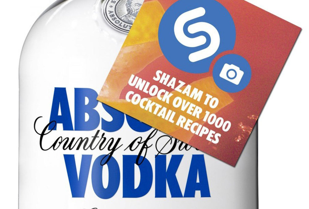 Absolute Vodka using Shazam to unlock cocktail recipes
