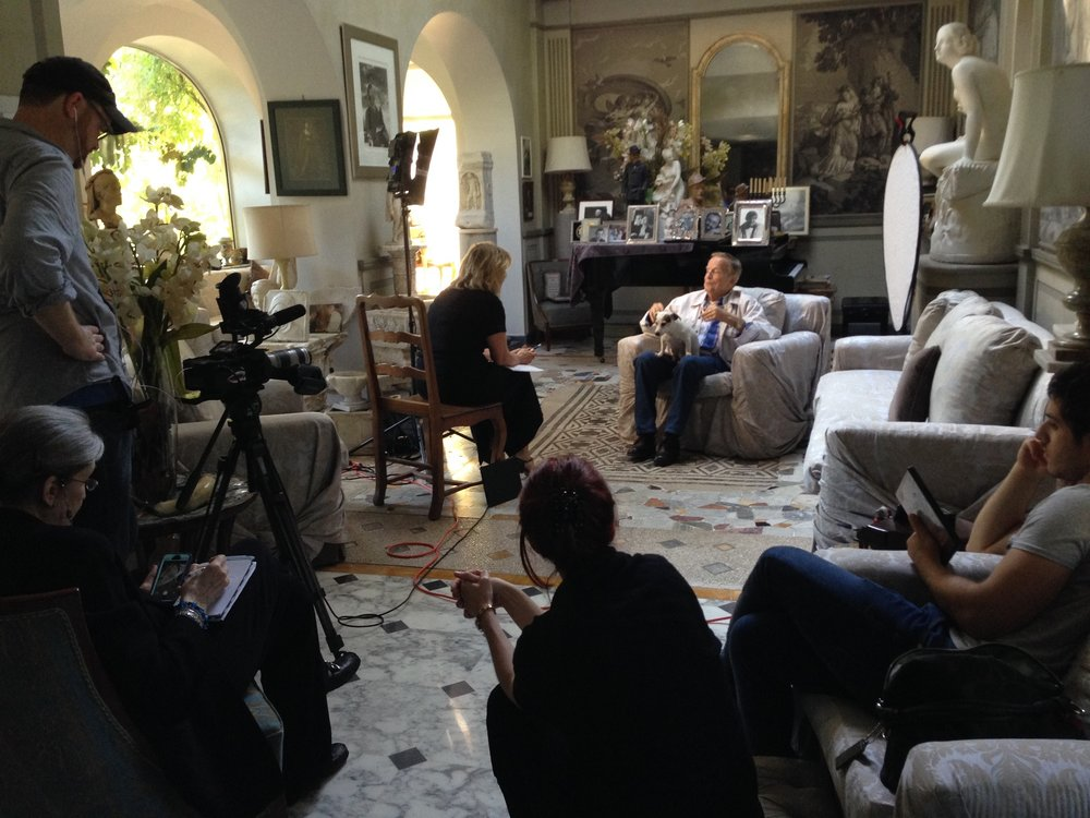 AWA on location at Franco Zeffirelli's villa in Rome