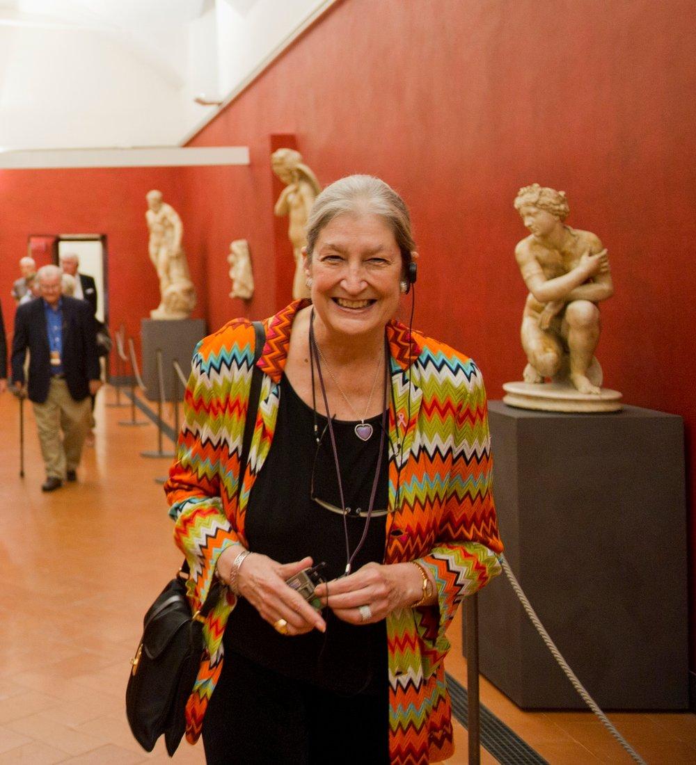 JAne Fortune at the Uffizi