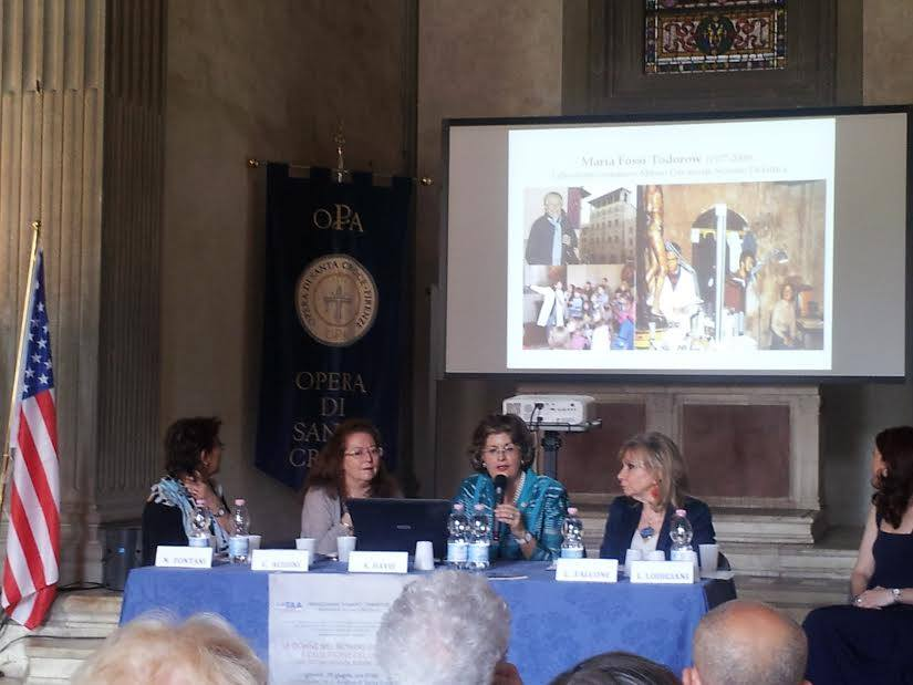 Speakers Panel at the Pazzi Chapel