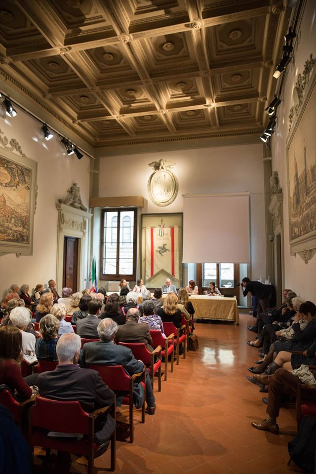 Presenting 'Pincherle and Pacini' at the Region's Palace in Via Cavour