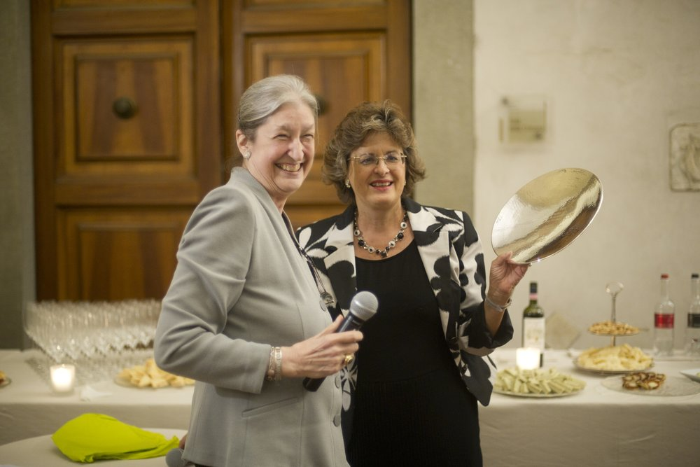 Cristina Acidini with AWA Founder Jane Fortune