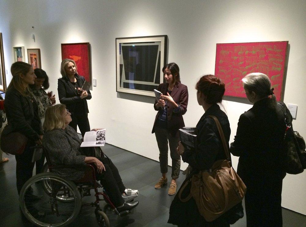 Partecipanti al soggiorno di AWA in visita al Museo del Novecento a Firenze