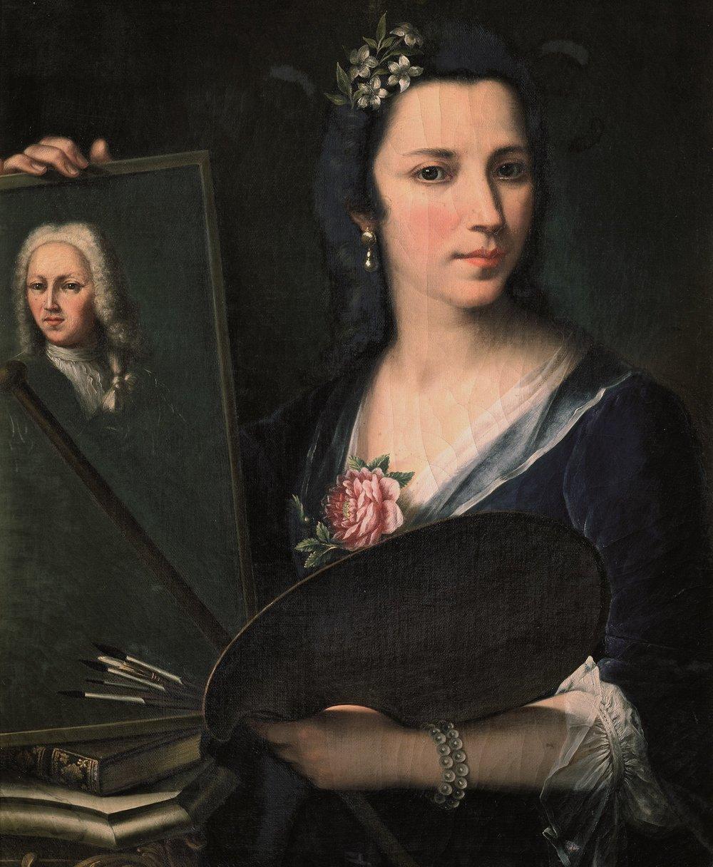 L' Autoritratto di Violante Siriès Cerroti alla Galleria degli Uffizi