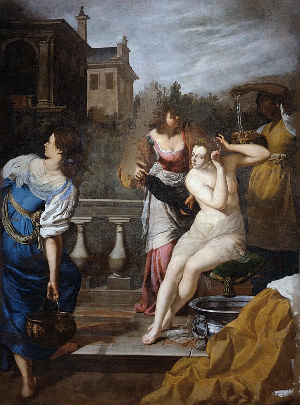 """Il """"David e Betsabea"""" della Gentileschi a Palazzo Pitti"""